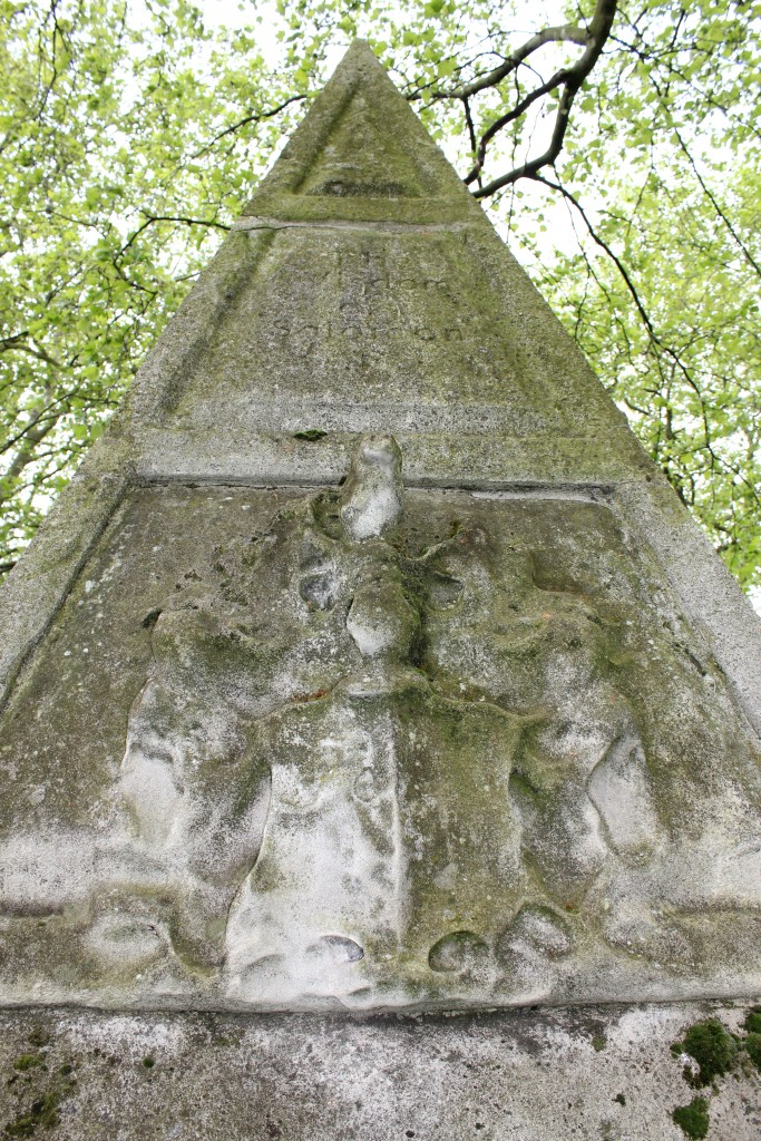 The pyramid in the graveyard of St. Annes Limehouse