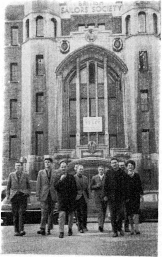 Figure 4 - the Situationist International outside Limehouse Sailors' Mission 1960