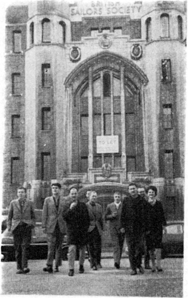 The Situationist International outside Limehouse Sailors' Mission 1960