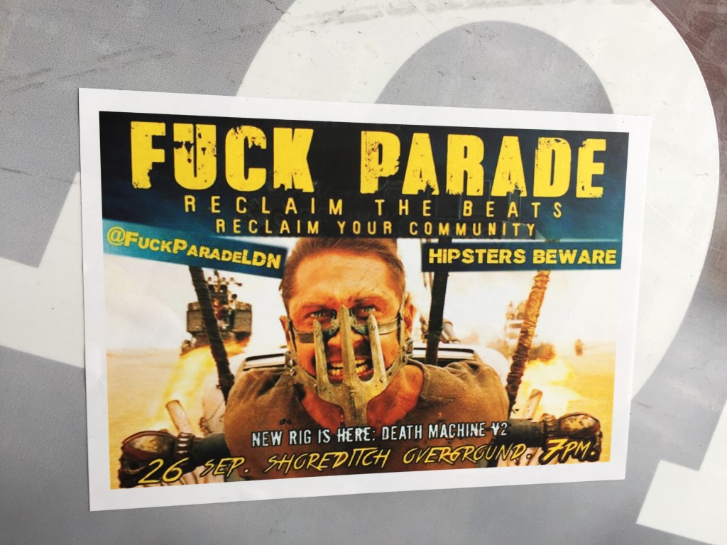 Fuck Parade - anti-gentrification party & protest - Sept 26, Shoreditch : http://m.facebook.com/events/1688801828009848 …